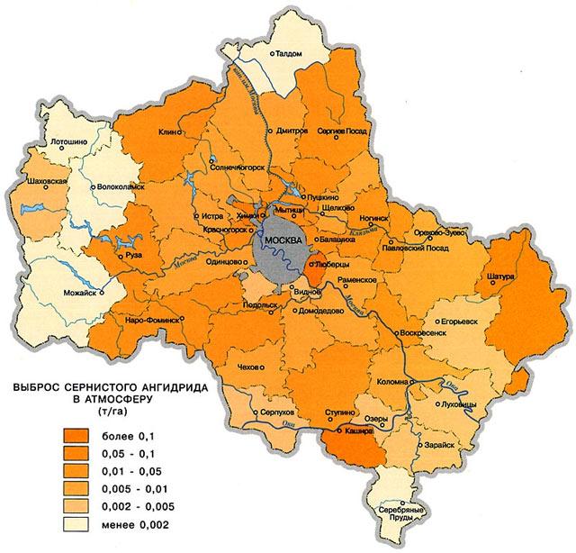Озёры, схема проезда от Москвы